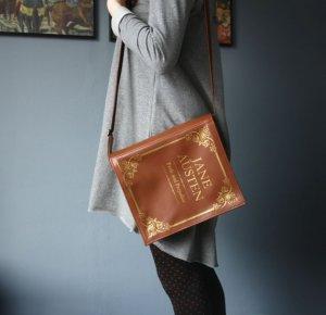 Jane Austen Brown Leather Book Purse