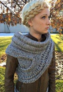 Katniss Everdeen Cowl Sweater Handmade