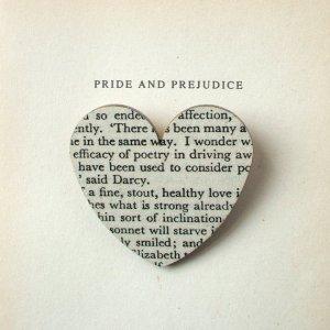 Handmade P&P Heart Pin