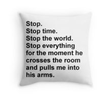 Shatter Me Throw Pillow