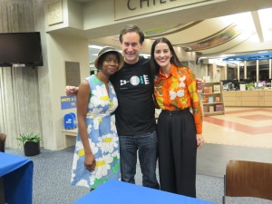 David Levithan was gracious enough to pose with us